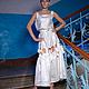 Платья ручной работы. Сарафан с бантами. Poza (poza-fashion). Ярмарка Мастеров. Сарафан в пол, длинное платье