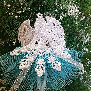 Подарки к праздникам handmade. Livemaster - original item Christmas angel in mint. Handmade.