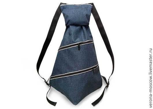 Рюкзак галстук темно синий под джнсу