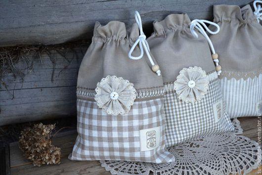 Кухня ручной работы. Ярмарка Мастеров - ручная работа. Купить Льняные мешочки для грибов, лука, чеснока (100 % лен). Handmade.