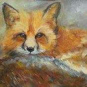 Картины и панно handmade. Livemaster - original item Red-haired beast (oil painting on canvas Fox). Handmade.