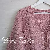 Одежда ручной работы. Ярмарка Мастеров - ручная работа Кофта - кардиган Розовый снег. Handmade.
