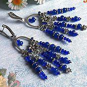Украшения handmade. Livemaster - original item Sapphire. Earrings
