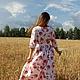 Платья ручной работы. Платье в пол Букет роз. Татьяна (TLTanyaEfimova). Ярмарка Мастеров. Нарядное платье, молочный, платье в пол