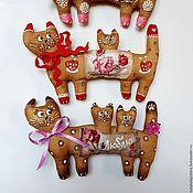 Куклы и игрушки ручной работы. Ярмарка Мастеров - ручная работа Кошка и котята. Магнит. Подвеска. Handmade.