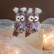 Brooches handmade. Livemaster - original item Brooch-owl
