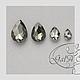 Для украшений ручной работы. Заказать Капли - стразы серый черный алмаз ( ассортимент размеров ). GalA beads. Ярмарка Мастеров.