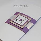 """Открытки ручной работы. Ярмарка Мастеров - ручная работа Приглашение на свадьбу """"Lilac"""". Handmade."""