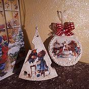 """Подарочные боксы ручной работы. Ярмарка Мастеров - ручная работа Новогодний набор """"Мышки""""-1. Handmade."""