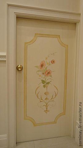 Элементы интерьера ручной работы. Ярмарка Мастеров - ручная работа. Купить Маленькие дверцы. Handmade. Дверь, цветочный орнамент