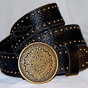Аксессуары handmade. Livemaster - original item Belt made from Python Mayan Calendar. Handmade.