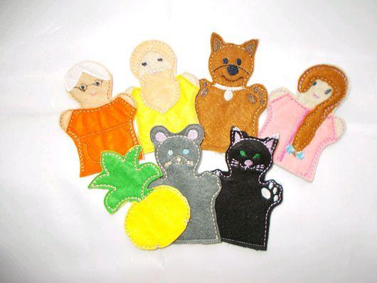 Кукольный театр ручной работы. Ярмарка Мастеров - ручная работа. Купить Пальчиковые развивающие игрушки из фетра. Handmade. Комбинированный