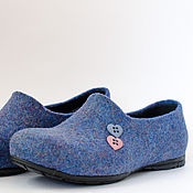 """Обувь ручной работы. Ярмарка Мастеров - ручная работа Слиперы из войлока """"Fresh Air"""". Handmade."""