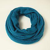 Аксессуары handmade. Livemaster - original item Snood knitted from kid-mohair in two turns. Handmade.