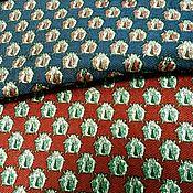 Ткани ручной работы. Ярмарка Мастеров - ручная работа Жаккард в стиле Gucci (Жуки) 2 цвета. Handmade.