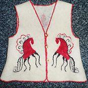 """Одежда ручной работы. Ярмарка Мастеров - ручная работа Безрукавка """"Хуторянка"""". Handmade."""