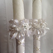 Свадебный салон ручной работы. Ярмарка Мастеров - ручная работа Свечи на свадьбу. Handmade.