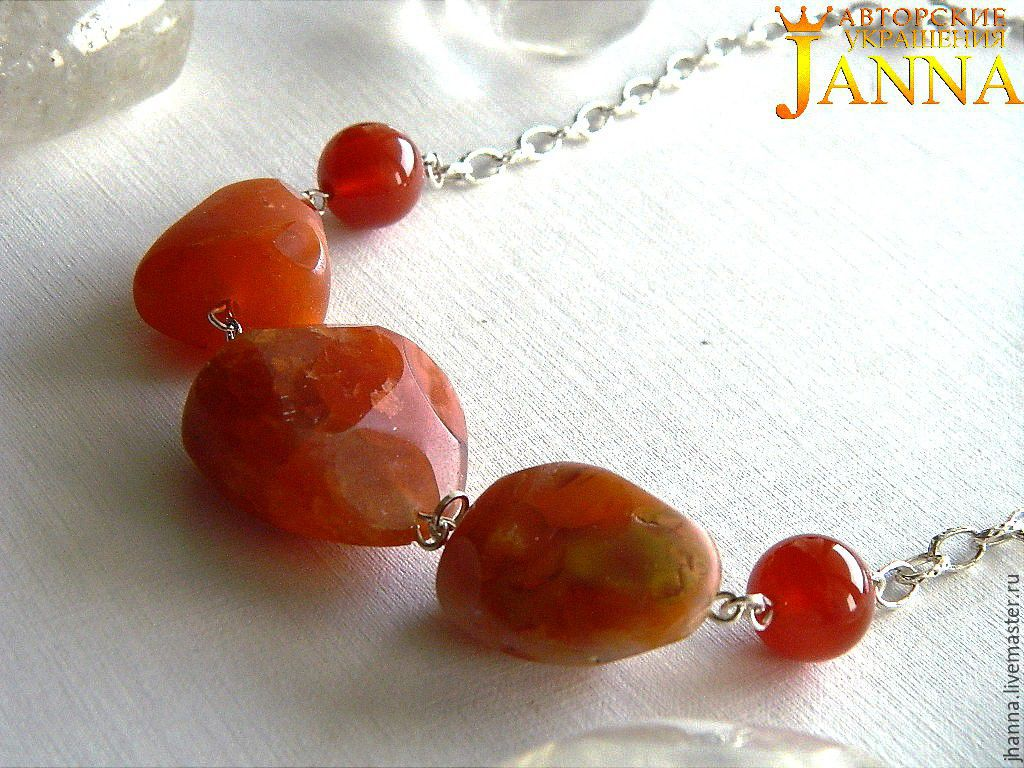 Necklace with carnelian nuggets, Necklace, Volgograd,  Фото №1