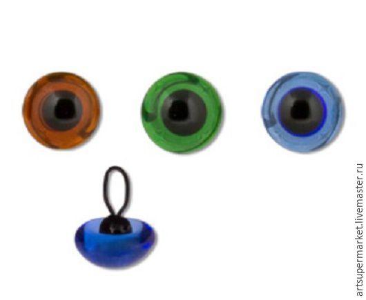 Куклы и игрушки ручной работы. Ярмарка Мастеров - ручная работа. Купить Глаза стеклянные 8мм. в ассортименте. Handmade. Комбинированный, Глаза