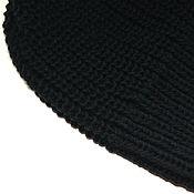 Аксессуары ручной работы. Ярмарка Мастеров - ручная работа Вязаная шапочка бини полушерсть, акрил черная. Handmade.
