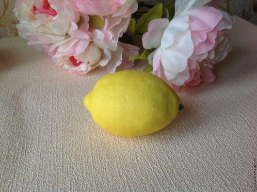 Материалы для флористики ручной работы. Ярмарка Мастеров - ручная работа. Купить Лимон для декора. Handmade. Желтый, лимон декоративный
