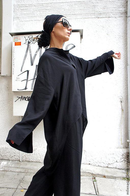 Блузки ручной работы. Ярмарка Мастеров - ручная работа. Купить Рубашка NERO. Handmade. Рубашка, кофта, дизайнерская одежда
