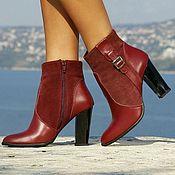 Обувь ручной работы handmade. Livemaster - original item Ankle boot womens natural suede. Handmade.