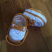 Работы для детей, ручной работы. Ярмарка Мастеров - ручная работа пинетки  - кеды. Handmade.