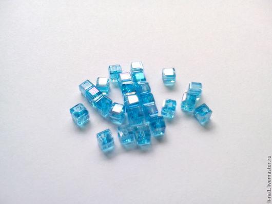 Для украшений ручной работы. Ярмарка Мастеров - ручная работа. Купить Бусина куб бирюза, 3 мм (10шт). Handmade.