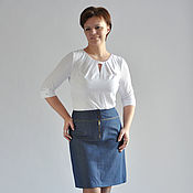 Одежда handmade. Livemaster - original item Denim skirt at the notched yoke. Handmade.