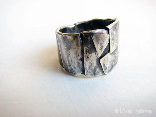 Кольца ручной работы. Ярмарка Мастеров - ручная работа. Купить Кольцо Вершины из серебра с чернением. Handmade. Серебро, украшение