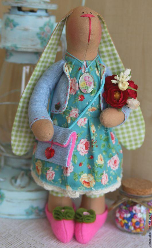 Куклы Тильды ручной работы. Ярмарка Мастеров - ручная работа. Купить Тильда зая. Handmade. Комбинированный, зайка, интерьерная игрушка