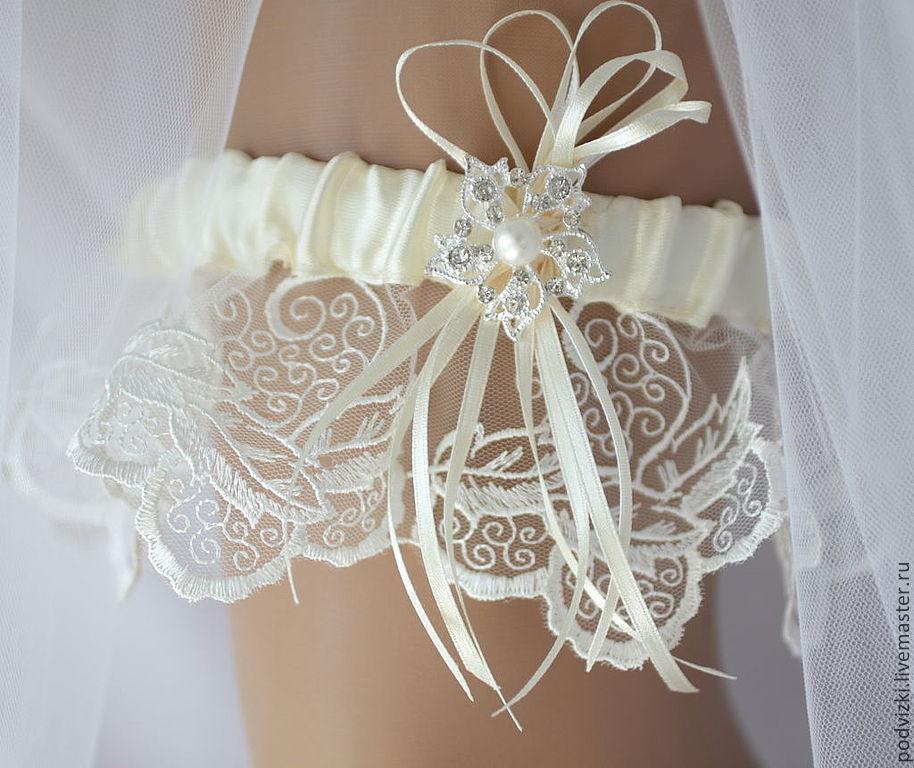 Как сшить подвязку для невесты своими руками кружево 78