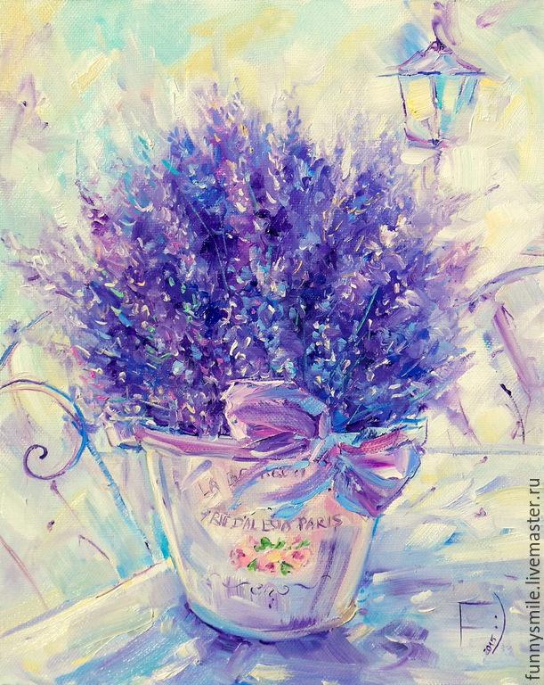 Цветы лаванды картины маслом в стиле прованс