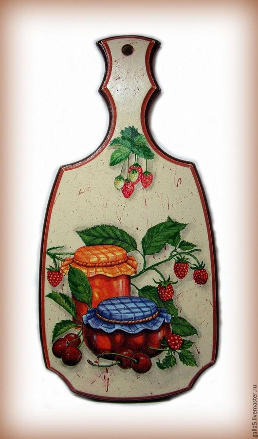 """Кухня ручной работы. Ярмарка Мастеров - ручная работа. Купить Разделочная доска """" Угощение к чаю """".. Handmade. Бежевый"""