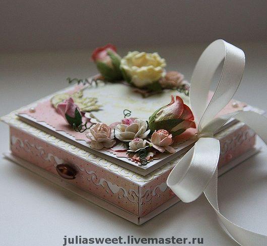 """Конверты для денег ручной работы. Ярмарка Мастеров - ручная работа. Купить Свадебная коробочка для денежного подарка """"Розовый сад"""". Handmade."""