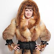 handmade. Livemaster - original item Fox fur coat with a huge fold-down hood. Handmade.