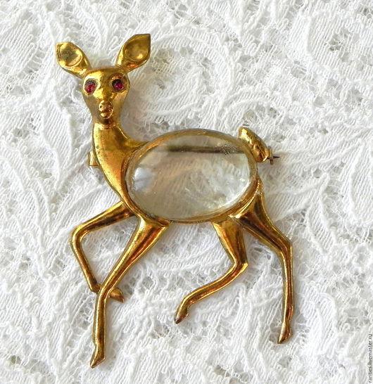 Винтажные украшения. Ярмарка Мастеров - ручная работа. Купить Брошь Оленёнок,США,Jelly Belly,животные,животное,природа,олень,подарок. Handmade.