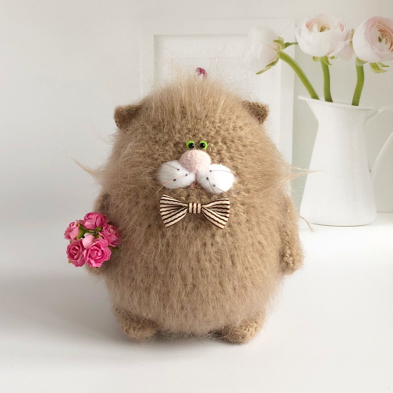 Mohair cat, Stuffed Toys, Moscow,  Фото №1