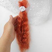 Материалы для творчества ручной работы. Ярмарка Мастеров - ручная работа Кудри для кукол  ( козочка )волосы куклам, кукольные локоны. Handmade.