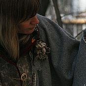 """Одежда ручной работы. Ярмарка Мастеров - ручная работа Шерстяное пончо с капюшоном """"Beautiful stranger..."""". Handmade."""