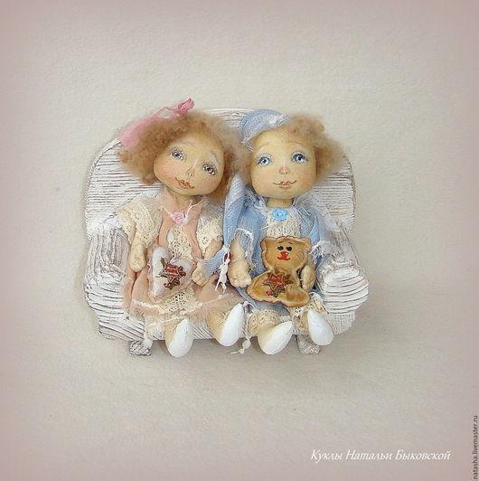 Сказочные персонажи ручной работы. Ярмарка Мастеров - ручная работа. Купить Мило и нежно. Ангелы.... Handmade. Разноцветный, текстильный ангел