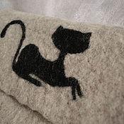 """Сумки и аксессуары ручной работы. Ярмарка Мастеров - ручная работа Сумка """"Черная кошка 2"""" валяная из шерсти. Handmade."""
