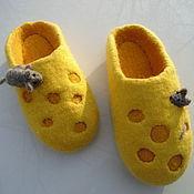 Slippers handmade. Livemaster - original item slippers cheese. Handmade.