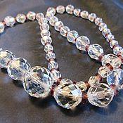 Vintage necklace handmade. Livemaster - original item 45 cm CZECH NECKLACE FACETED CRYSTAL APPLE. Handmade.