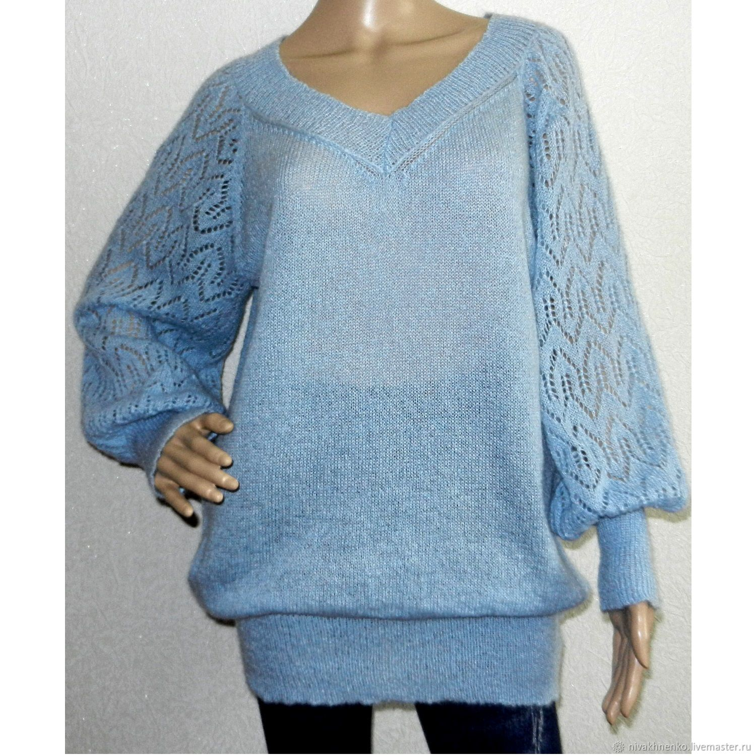 Tunic knitted from kid mohair, Tunics, Moscow,  Фото №1