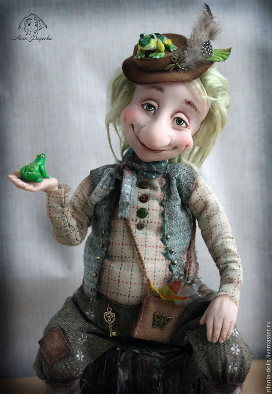 Коллекционные куклы ручной работы. Ярмарка Мастеров - ручная работа. Купить Водяной. Handmade. Зеленый, водяной, шерсть