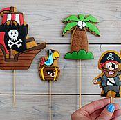 Пряники ручной работы. Ярмарка Мастеров - ручная работа Имбирное печенье Пираты. Handmade.