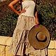 Платья ручной работы. Платье- бандо с вышивкой и пайетками. image4you (Лариса). Ярмарка Мастеров. Хлопок с вискозой, кофе с молоком, лето