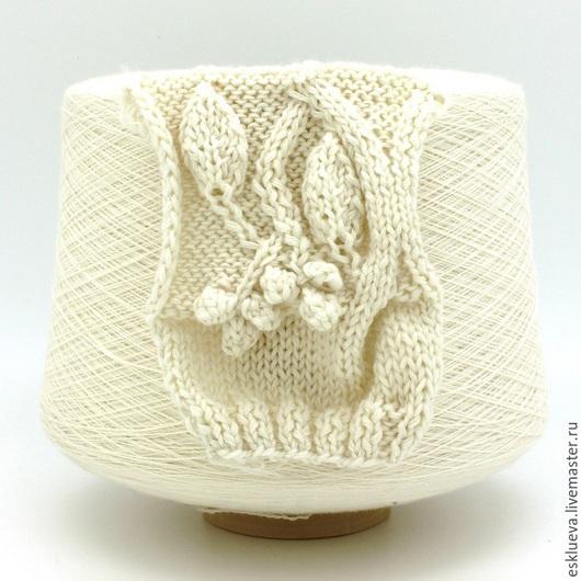 """Вязание ручной работы. Ярмарка Мастеров - ручная работа. Купить """"Baby Yak"""". Handmade. Молочный цвет, теплая пряжа"""